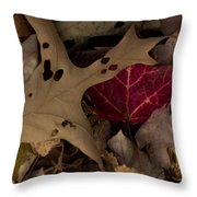 Scary Leaves Throw Pillow