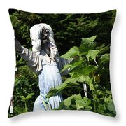 Scary Scarecrow Throw Pillow
