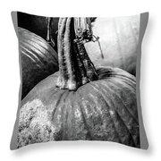 Scary Stem Pumpkin Throw Pillow