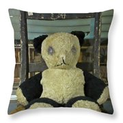 Scary Teddy Throw Pillow