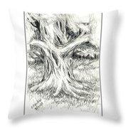 Scary Tree Throw Pillow