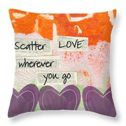 Scatter Love Throw Pillow by Linda Woods