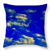 Scattered Clouds Throw Pillow