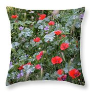 Scattered Everywhere Throw Pillow