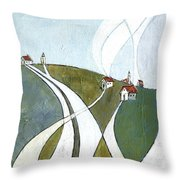 Scattered Houses Throw Pillow
