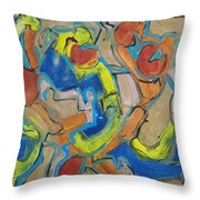Scattered Roses Throw Pillow