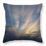 Scattered Sky Throw Pillow