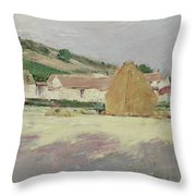 Scene At Giverny, 1890 Throw Pillow