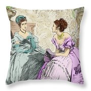 Scene From Anthony Trollope's Novel He Knew He Was Right Throw Pillow