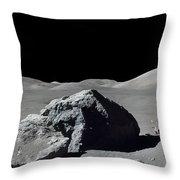Scene From Apollo 17 Extravehicular Throw Pillow