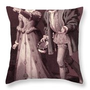 Scene From Much Ado About Nothing By William Shakespeare Throw Pillow