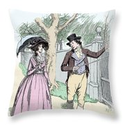 Scene From Sense And Sensibility By Jane Austen Throw Pillow