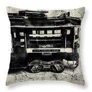 Scene From The Old Tramway Throw Pillow