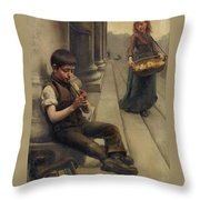 Scene From The Street Throw Pillow