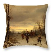 Scene From The Thirty Years War Throw Pillow