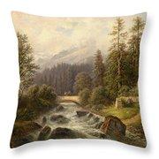 Scene From Weyer Upper Austria Throw Pillow