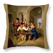 Scene In A Country Throw Pillow