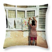 Scene Of Daily Life Throw Pillow