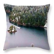 Scene Over Diablo Lake Throw Pillow