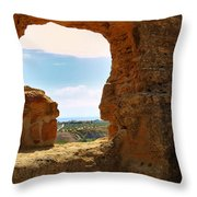 Scene Through Antiquity Throw Pillow