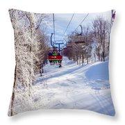 Scenery Around Timberline Ski Resort West Virginia Throw Pillow