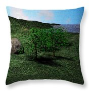 Scenery Throw Pillow by James Barnes