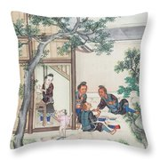Scenes Of Daily Life Throw Pillow