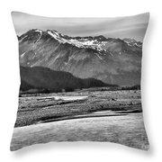 Scenic Alaska Bw Throw Pillow