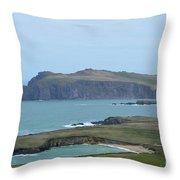 Scenic Blasket Islands As Seen From Slea Head Penninsula Throw Pillow