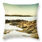 Scenic Coastal Dusk Throw Pillow