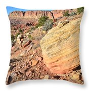 Scenic Drive Boulder View Throw Pillow