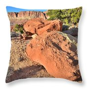Scenic Drive Boulders Throw Pillow