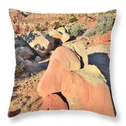 Scenic Drive Sunset Throw Pillow