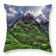 Scenic Glen Coe Throw Pillow