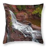Scenic Gooseberry Falls Throw Pillow