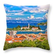 Scenic Island Of Vis Waterfront Throw Pillow
