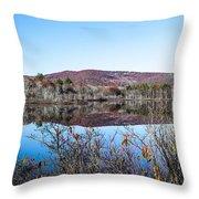 Scenic Lake On The Kancamangus Throw Pillow
