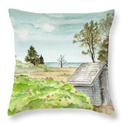Scenic Maine   Throw Pillow