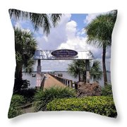 Scenic Melbourne Beach Pier  Florida Throw Pillow