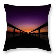 Scenic Moment At Sunset Throw Pillow