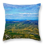 Scenic Road To Zagreb Throw Pillow