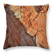 Scenic Sandstone In Valley Of Fire Throw Pillow