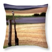 Scenic Saskatchewan Landscape Throw Pillow