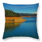 Scenic Shasta Lake Throw Pillow