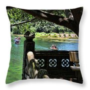 Scenic Tam Coc Boat Tour Throw Pillow