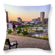Scenic View From Federal Hill Throw Pillow