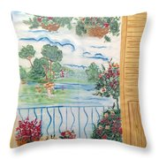 Scenic View From The Terrace Throw Pillow