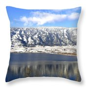 Scenic Wood Lake Throw Pillow