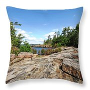 Scenic Wreck Island Throw Pillow