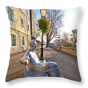 Scenic Zagreb Upper Town Walkway Throw Pillow